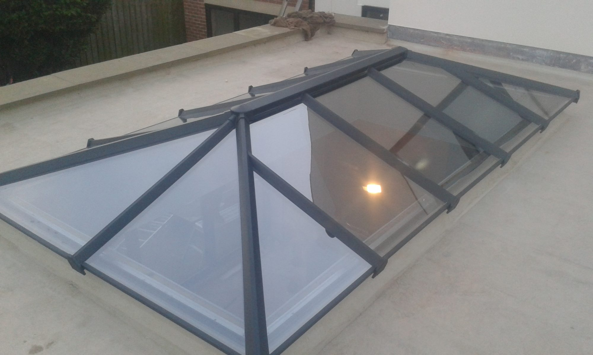 Skypod Roof Lantern - Anthracite Grey Exterior