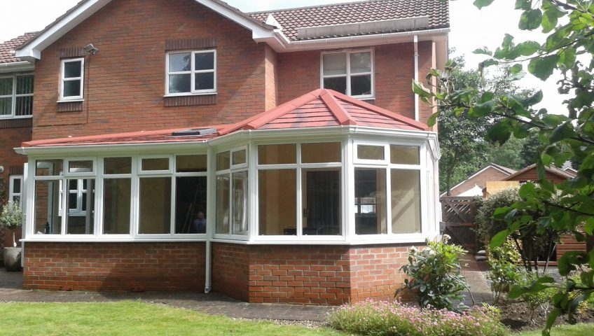 P Shape Tiled Conservatory Roof - Guardian Warm Roof