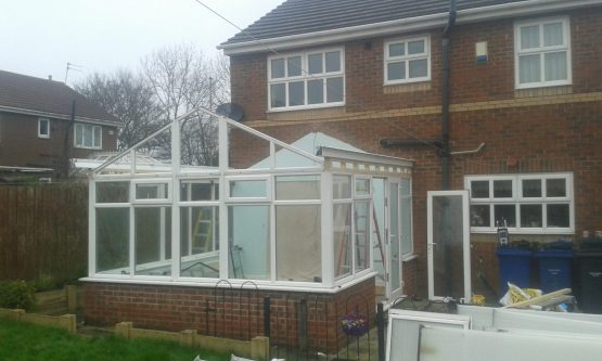 Gable End Tiled Conservatory Roof Installation