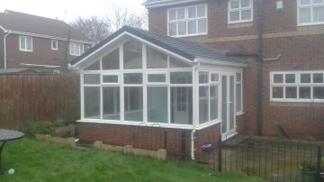 Gable End Tiled Conservatory Roof - Guardian Warm Roof
