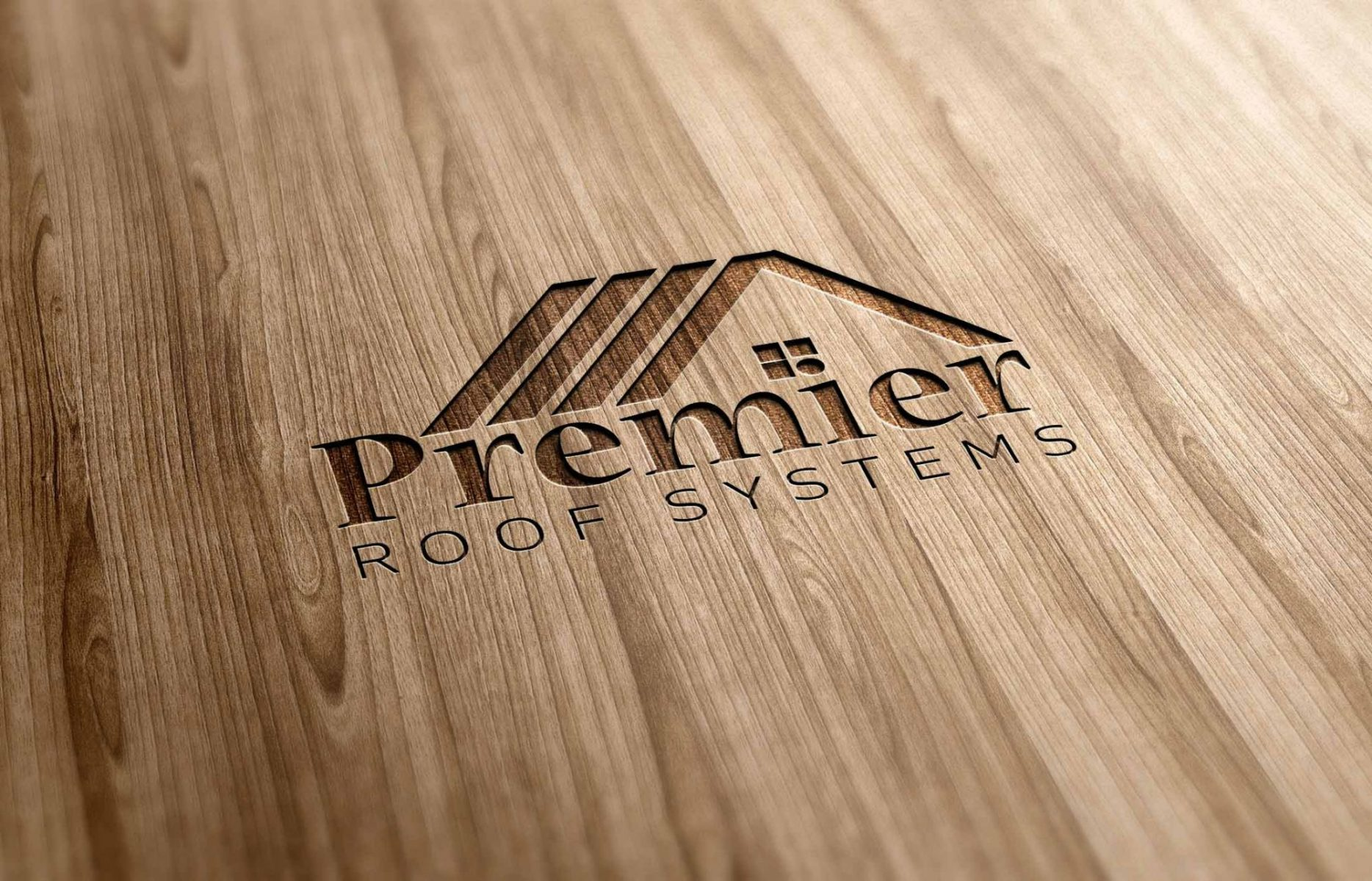 Premier Roof Systems - Wooden Logo Effect