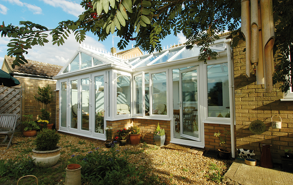 Gable End Glass Conservatory - Exterior