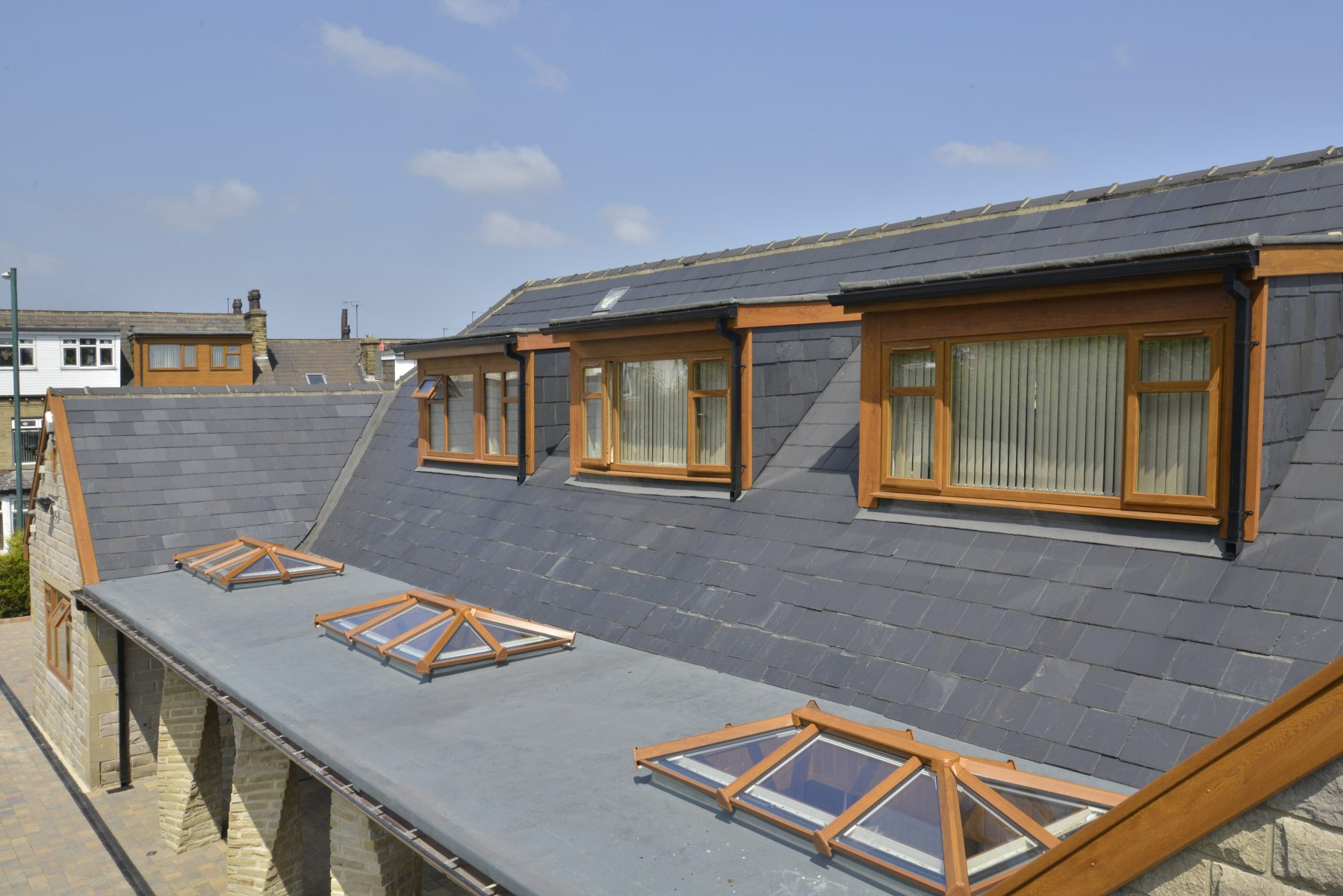 Skypod Roof Lantern - Golden Oak Exterior