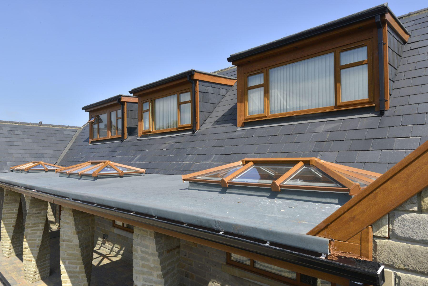 Skypod Roof Lantern - Golden Oak Exterior