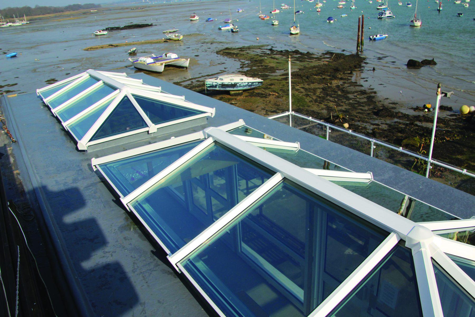 White Skypod Roof Lantern - Exterior