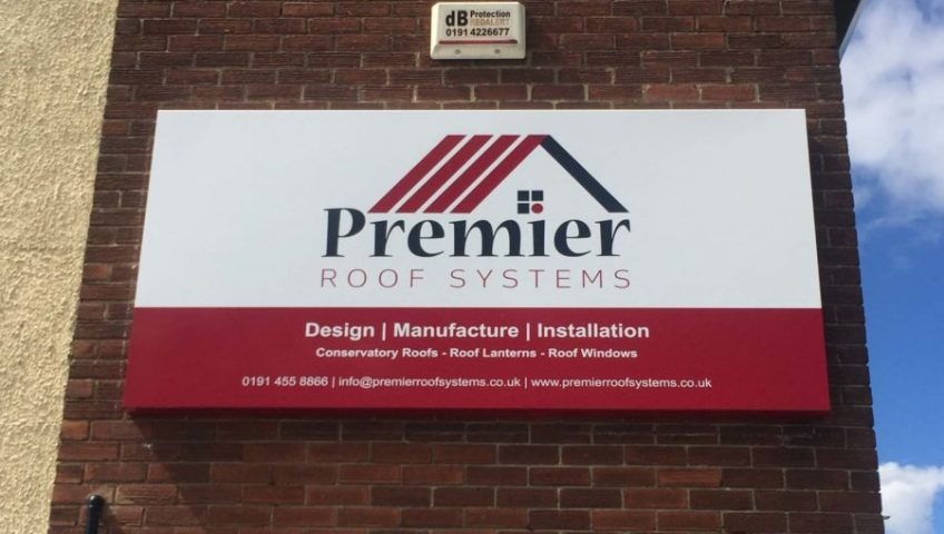 Premier Roof Systems - New Factory Sign