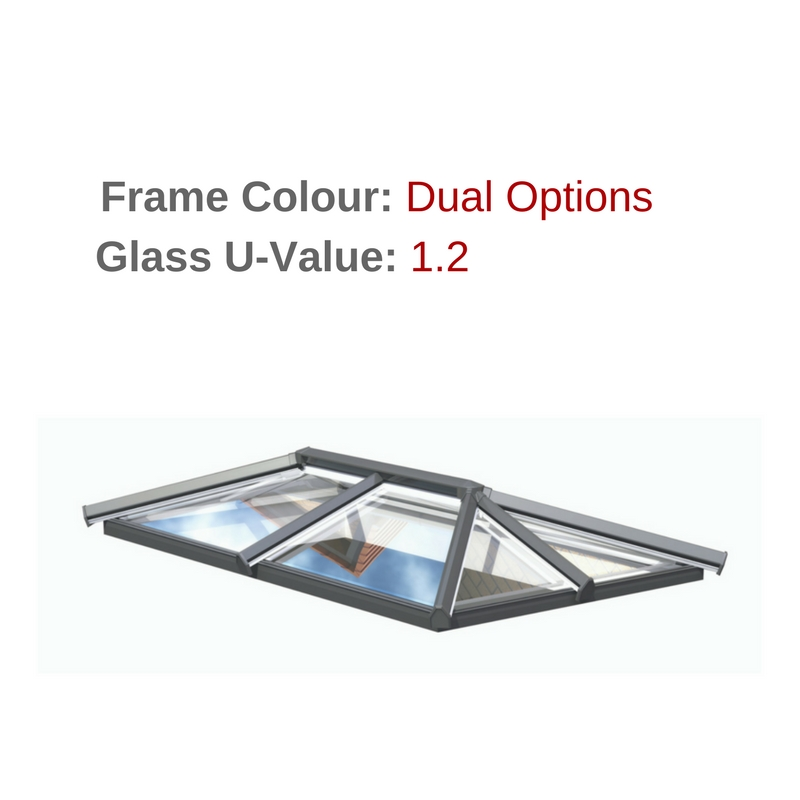 Skypod Skylights - Dual Colour Frame - 1.2 U-Value