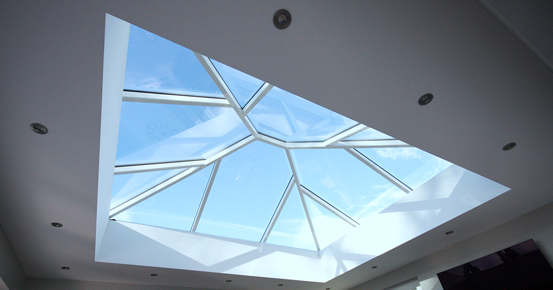 Aluminium Roof Lantern (Korniche) - White Interior