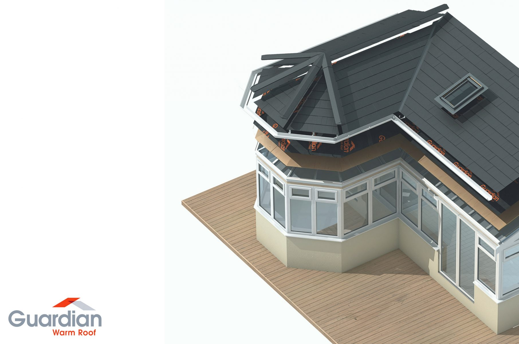Solid Conservatory Roofs Guardian Warm Roof Tiled