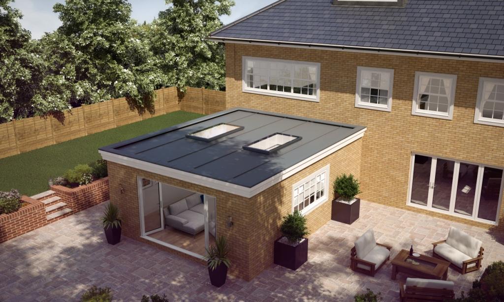 Atlas Aluminium Flat Rooflight Daytime