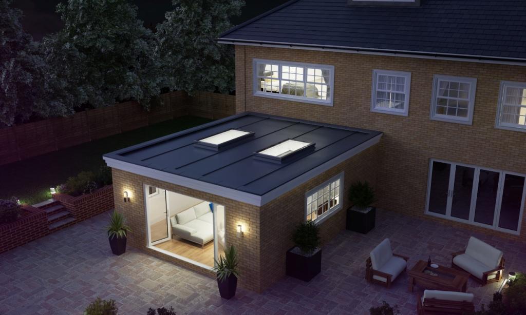 Atlas Aluminium Flat Rooflight Nighttime