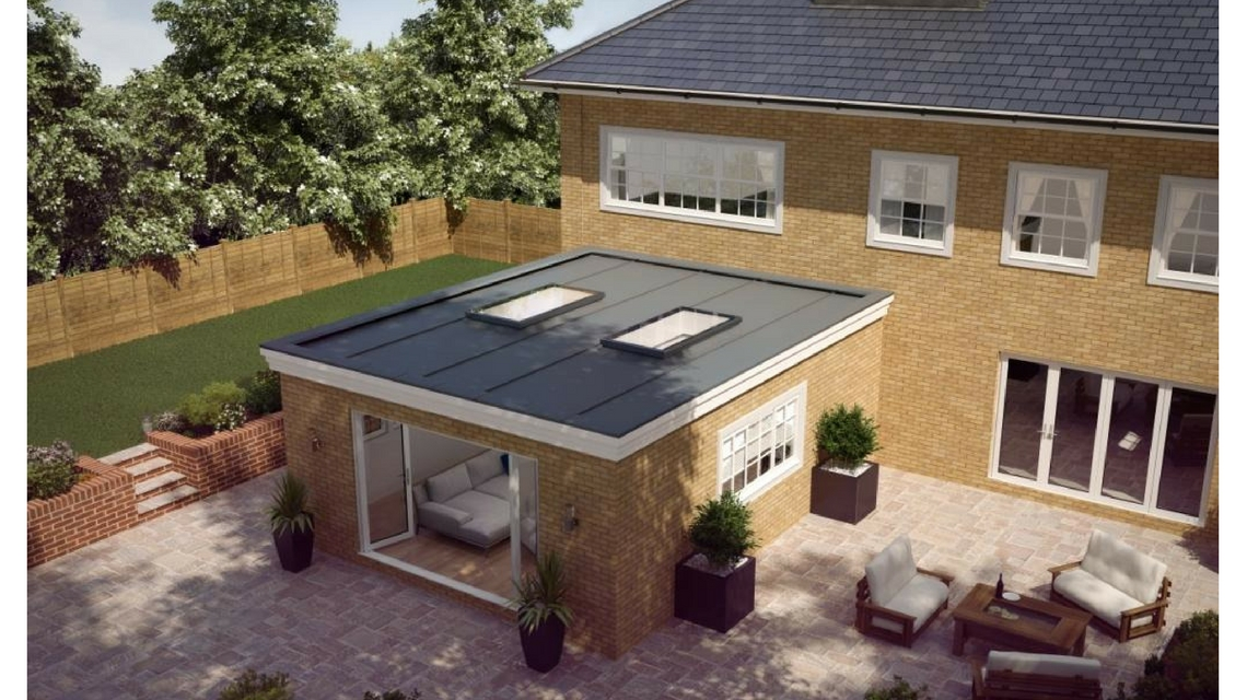 Atlas Aluminium Flat Rooflight - Day View