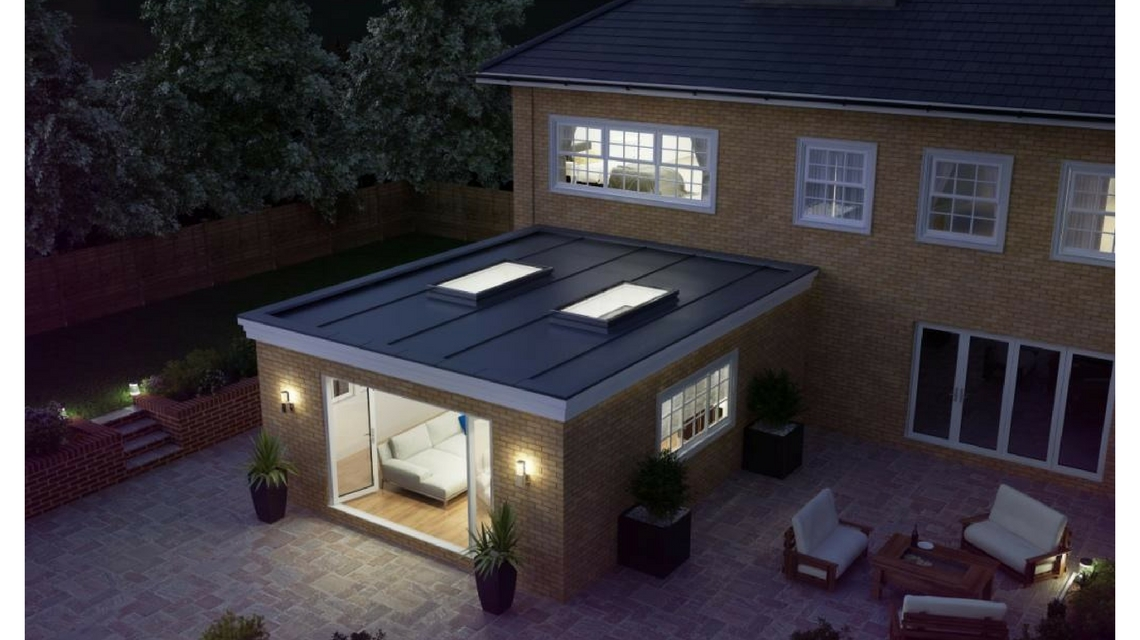 Atlas Aluminium Flat Rooflight - Night View