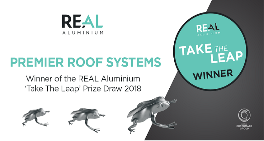 Premier Roof Systems - Winner of the REAL Aluminium 'Take The Leap' Prize Draw 2018