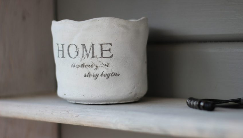 "photo of a white basket with ""home"" written on it - home renovation tips"